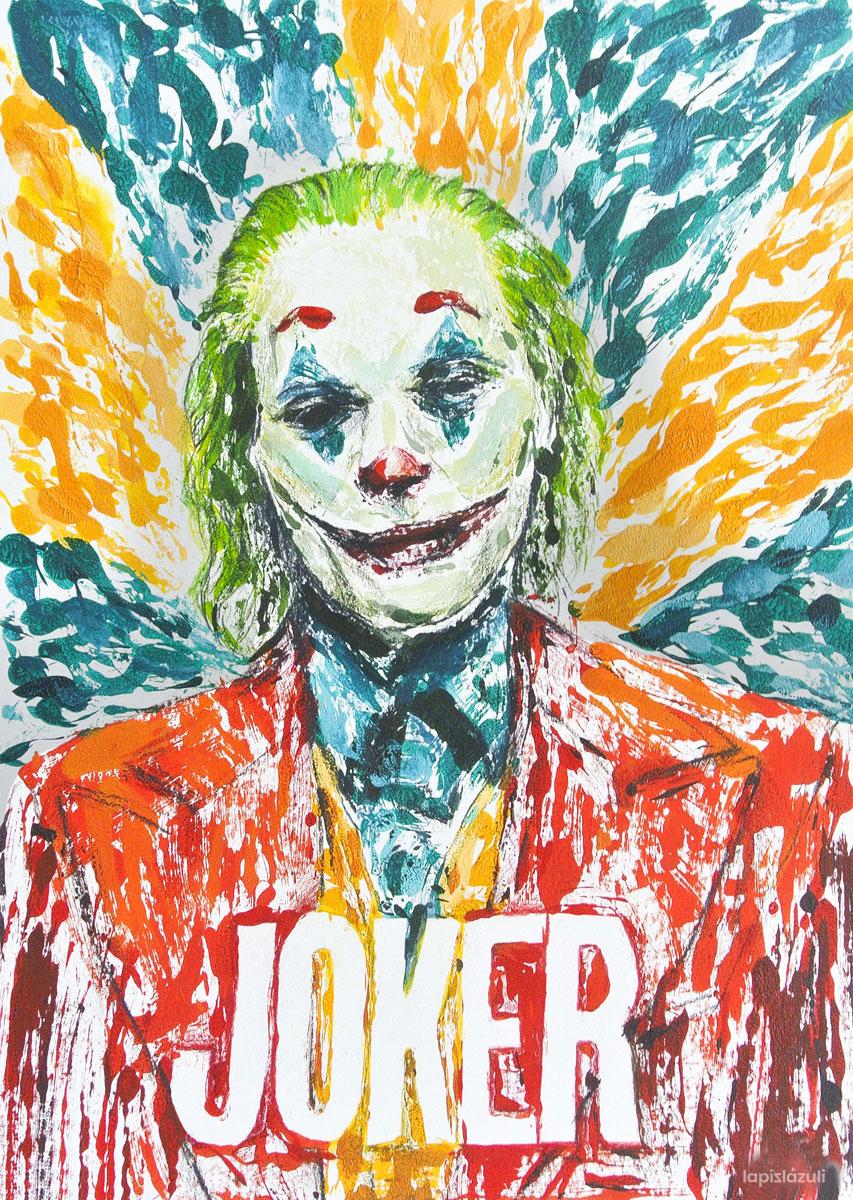 "Monotipia inspirada en la película ""Joker"""