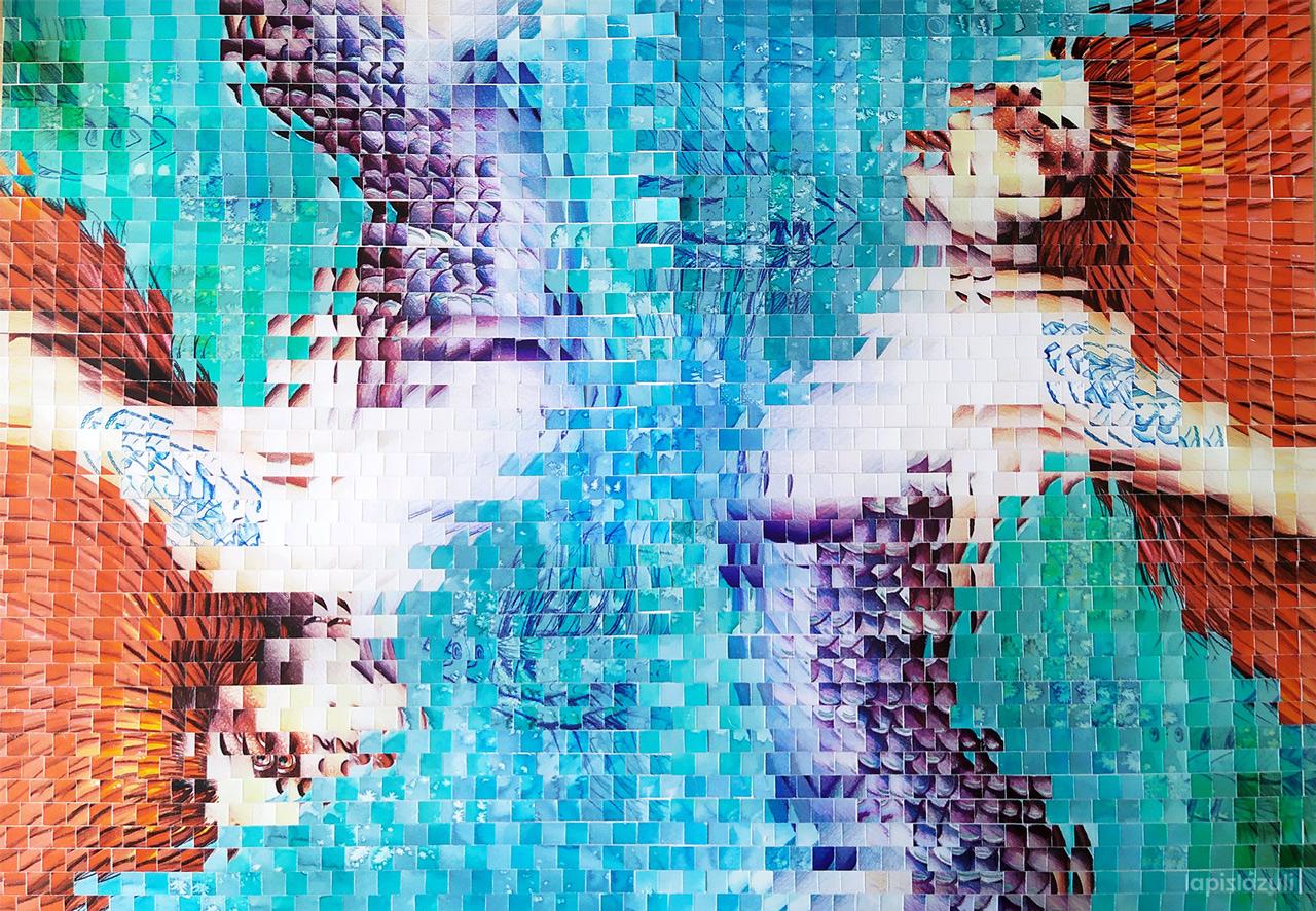 """Collage Geométrico """"Pececitas"""""""