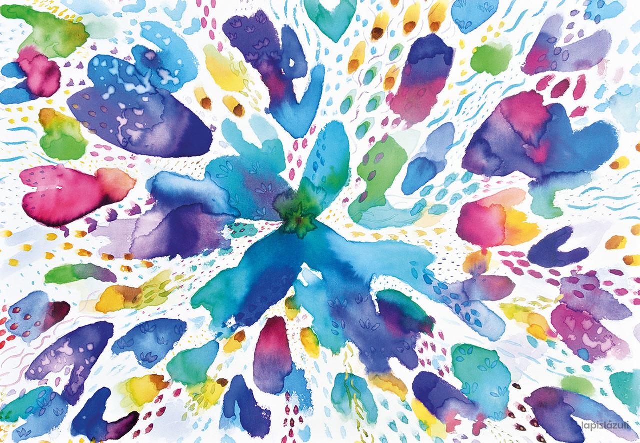 """Pintura """"Explosión de color"""" 1"""