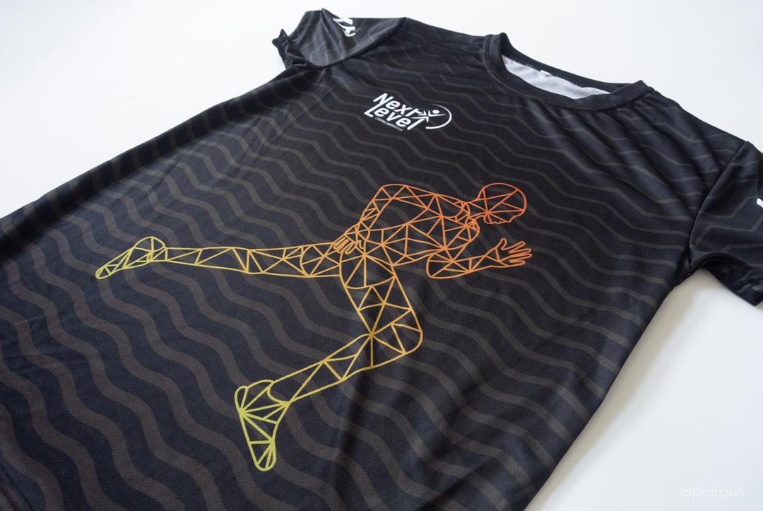 Diseño de camiseta deportiva para el centro Next Level Canarias. 2021-frontal plano detalle