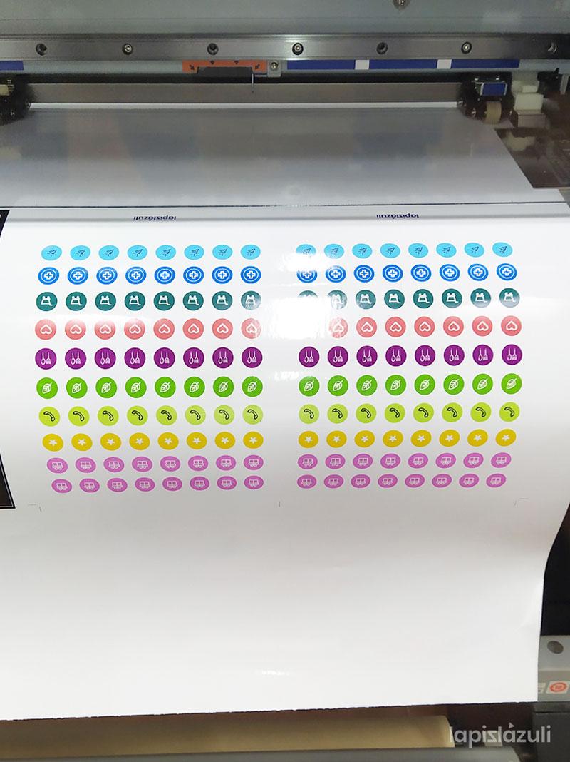 impresión de pegatinas