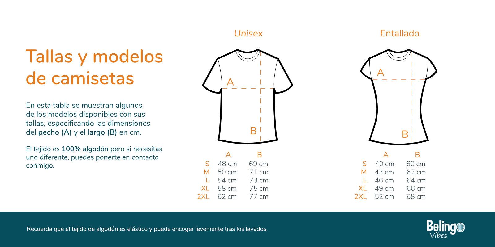 Dimensiones Camisetas